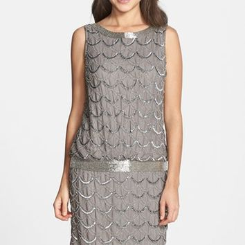 Women's Adrianna Papell Beaded Chiffon Dress