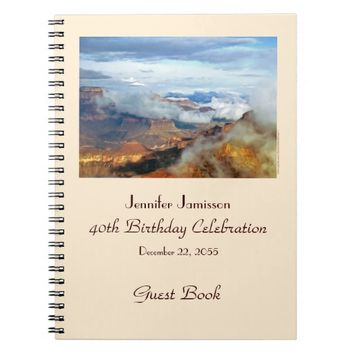 40th Birthday Party Guest Book, Grand Canyon Notebook