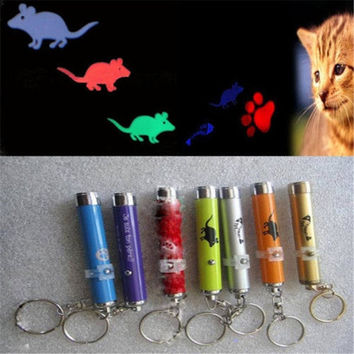 Pet Dog Cat Toy Funny LED Laser Pointer Light Pen Torch Mouse Animation(random color)