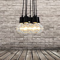 Vintage Multi Barn Pendant Light Max 280W With 7 Lights Painted Finish