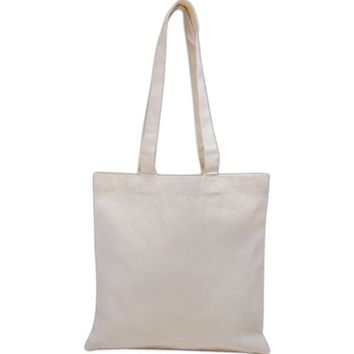 Basic Cotton Tote Bags with Over the Shoulder Handles - TB100L