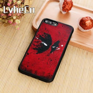 LvheCn Deadpool Eyes Marvel Phone Case Cover For iPhone 4 5s SE 6 6s 7 8 plus 10 X Samsung Galaxy S5 S6 S7 edge S8 S9 plus note8