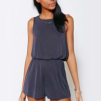 Sleeveless Cross Back Romper