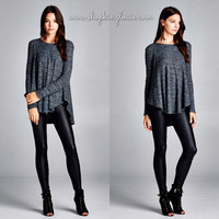 Soft Knit Charcoal Sweater