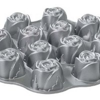 Nordic Ware Cast-Aluminum Nonstick Muffin Pan, Sweetheart Rose: Kitchen & Dining