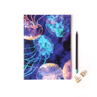 A4 Translucent Jellyfish Notebook with lined pages