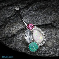 Sparkle Opal Medley Belly Button Ring