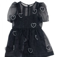 Organdie Heart mini one-piece