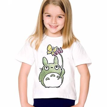 18M-10T Print Anime My Neighbor Totoro T shirt For Boys/girls Summer T-Shirts for Children Baby Girls Clothing TA201