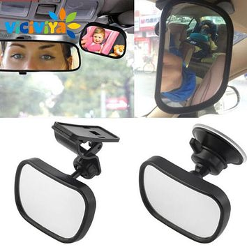 VICIVIYA New Adjustable Car Rear Seat Baby Viewer Safety Clip And Suction Cup In One Of The Baby Safety Rear-view Mirror ^