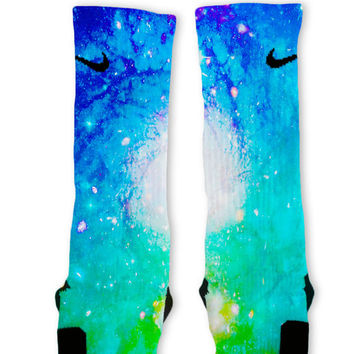 Cosmic Galaxy Customized Nike Elite Socks