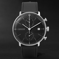Junghans - Max Bill Stainless Steel and Leather Chronoscope Watch | MR PORTER
