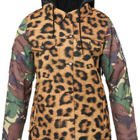 686 Limited 55DSL Rocker Womens Snowboard Jacket - Cheetah