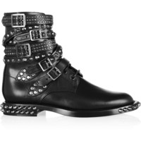 Saint Laurent - Signature Rangers studded leather boots