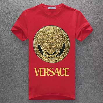 Trendsetter VERSACE Women Man Fashion Print Sport Shirt Top Tee