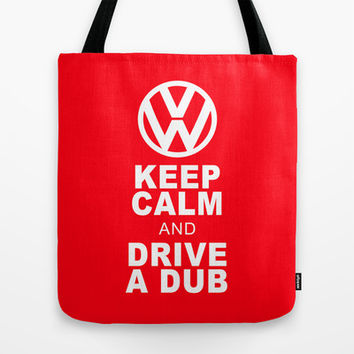 VW Drive a Dub Tote Bag by Alice Gosling