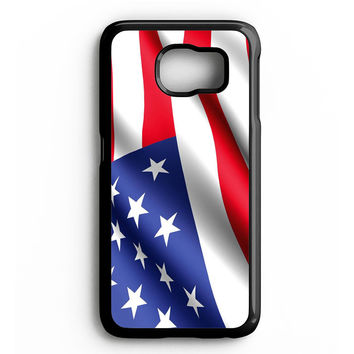 USA Flag Waving Samsung Galaxy S4 Galaxy S5 Galaxy S6 Edge Case | Note 3 Note 4 Note 5 Case
