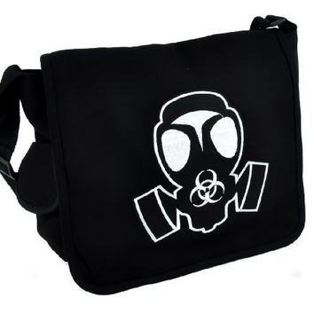 Gas Mask School Messenger Bag Zombie Apocalypse