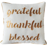 14IN GRATEFUL FALL PILLOW