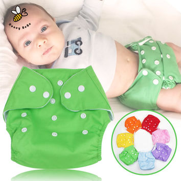 1Pc Cotton Reusable Nappies Soft Covers Baby Cloth Diapers Adjustable Training Pants Waterproof Cloth Diaper Nappy Changing