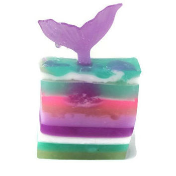 Mermaid tail Soap - Mermaid Party Favors - Mermaid Shower Favors - Mermaid Birthday Favors - Unique Soap - Mermaid Kisses - Mermaid Fin