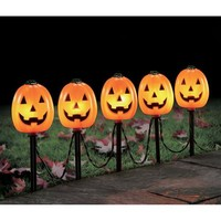 Pumpkin Pathway Halloween Decoration, Set of 5 - Walmart.com