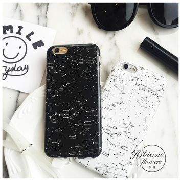 Original Planet Constellation Star Soft Rubber Case Cover For iPhone 6s 6s Plus