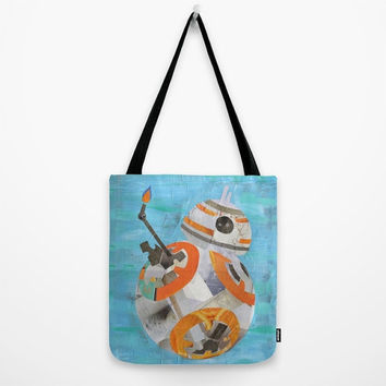 Star Wars Tote Bag BB8, Girls Canvas Tote Bag, Womens Totes, Shopping Tote Beach Tote, Unique Birthday Gift Idea for her, The force awakens