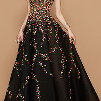 Sequin And Bead Embroidered Gown | Moda Operandi