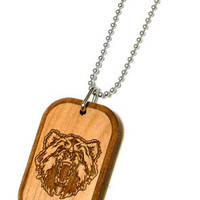 Bear Wood Pendant