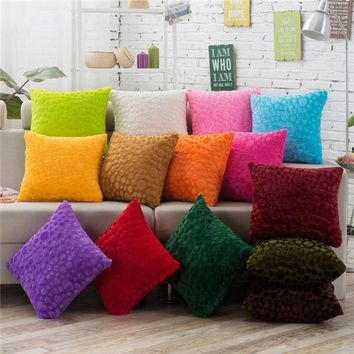 Stylish Plush Throw Pillowcase  Home Decor for Your Favorite Couch or Loveseat