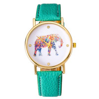 Elegant Elephant Wrist Watch