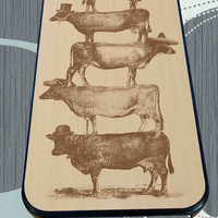 Cow Cow Nuts for iPhone 4/4s/5/5S/5C/6/6+, Samsung S3/S4/S5 Case *95*