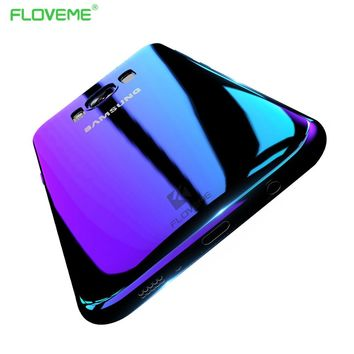 FLOVEME Gradient Phone Cases For Samsung Galaxy S8 S8 Plus S7 S6 S7 Edge Aurora Blue Ray Cover Coque Mobile Phone Accessories