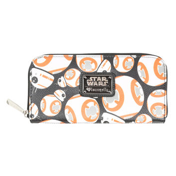 Loungefly Star Wars: The Force Awakens BB-8 Faux Leather Zipper Wallet