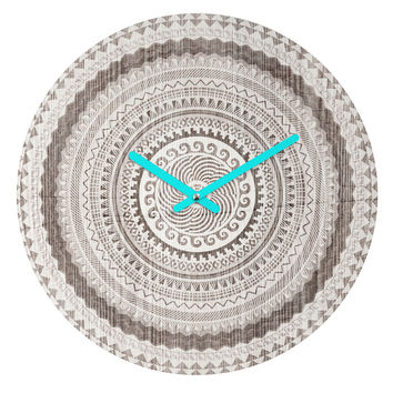 Iveta Abolina Winter Wheat Round Clock