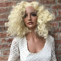 "SALE Blonde SWISS lace front wig 10"" 41710 ON SALE"
