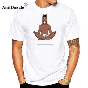 BoJack Horseman Men T-shirt  NetFlix Adult Animation Fashion Cotton T shirtsCasual Tops TeeKawaii Pokemon go  AT_89_9