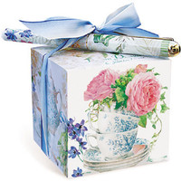 Tea and Rose Garden Paper Note Block with Pen