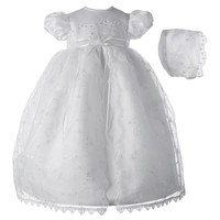 American Originals Embroidered Organza Dress - Baby Girl, Size: