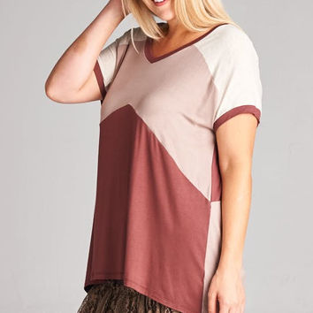 Curves - Fall Colorblock Top