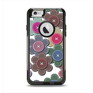 The Striped Vector Flower Buttons Apple iPhone 6 Otterbox Commuter Case Skin Set
