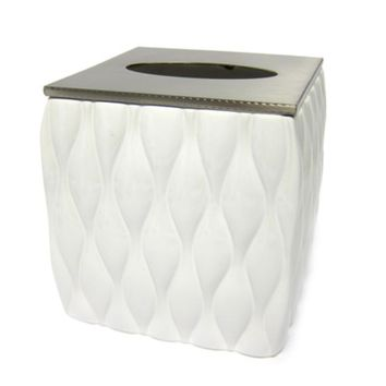 Croscill Addison Ceramic Pattern Tissue Box Cover