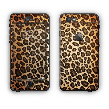 The Vibrant Leopard Print V23 Apple iPhone 6 LifeProof Nuud Case Skin Set