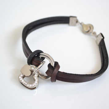 Gifts for Valentine's Day,  Women Gift, Valentine gift, personalized leather bracelet, Leather Cuff, cuff, present for couple, KM01