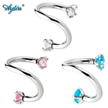 Ayliss 3pc 16 G 8-12MM Piercing Septo Nose Lip Eyebrow Ear Septum Cartilage Helix Captive Hoop Ring Percing Labret Nariz Aro Nez