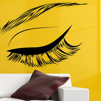 Eyelashes Extensions Wall Decal, Eyebrows Decal, Eyes and Brows Decal, Beauty Salon Decor, Fashion Decal, Trending Beauty Salon Decal, nm084