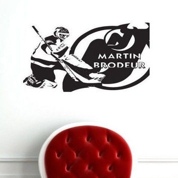 Wall Decal NHL New Jersey Devils Martin Brodeur 30 Goalkeeper Gm1576 FRST