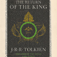 The Return of the King Cover Print on an antique page, home decor gift, book cover art, JRR Tolkien, LOTR