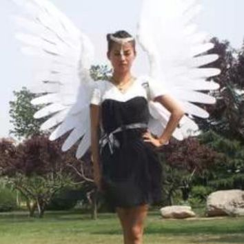 High Quality Adult Angel Feathers Wings Stage Performance Cosplay Costume